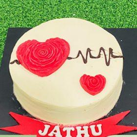 Heart Beat Cake